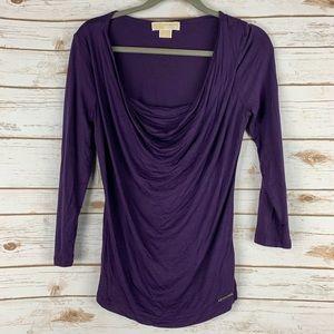 Michael Michael Kors small blouse purple cowl neck